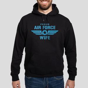 Proud Air Force Wife W Hoodie (dark)