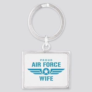 Proud Air Force Wife W Landscape Keychain
