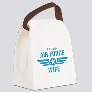 Proud Air Force Wife W Canvas Lunch Bag