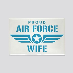 Proud Air Force Wife W Rectangle Magnet