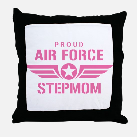 Proud Air Force Stepmom W [pink] Throw Pillow
