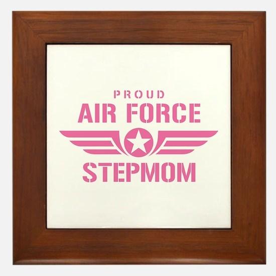 Proud Air Force Stepmom W [pink] Framed Tile