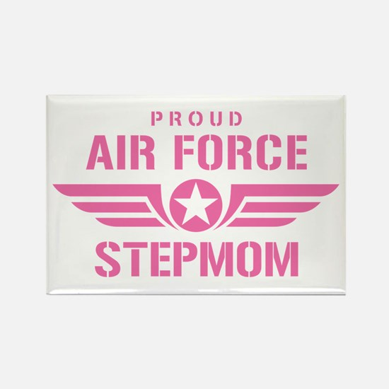 Proud Air Force Stepmom W [pink] Rectangle Magnet