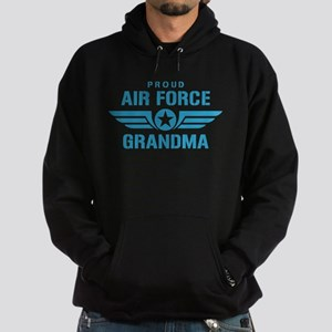 Proud Air Force Grandma W Hoodie (dark)