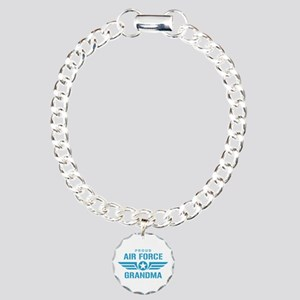 Proud Air Force Grandma W Charm Bracelet, One Char