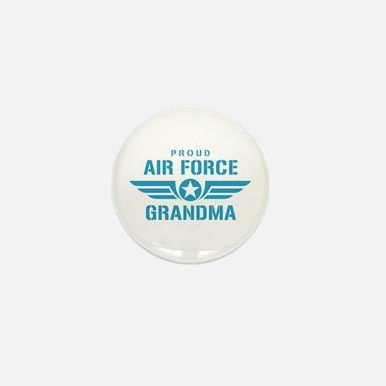 Proud Air Force Grandma W Mini Button