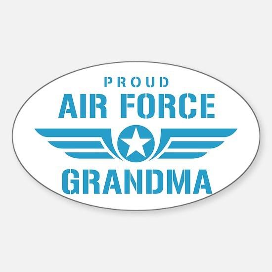 Proud Air Force Grandma W Sticker (Oval)