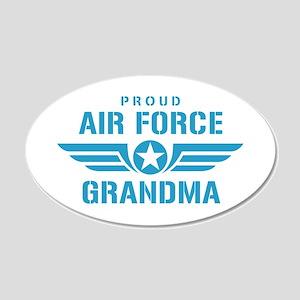 Proud Air Force Grandma W 20x12 Oval Wall Decal