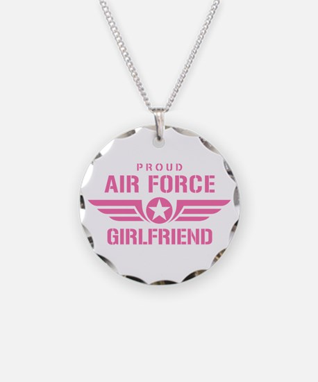 Proud Air Force Girlfriend W [pink] Necklace