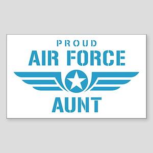Proud Air Force Aunt W Sticker (Rectangle)