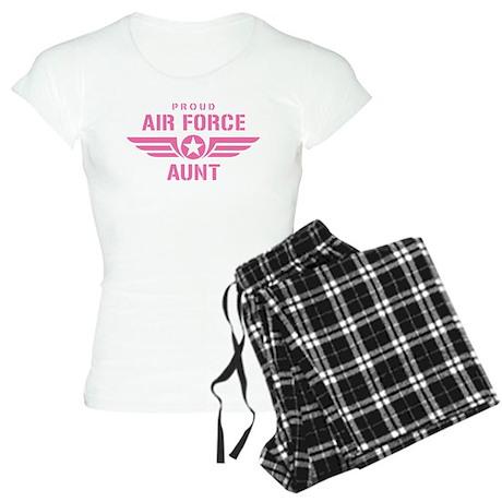 Proud Air Force Aunt W [pink] Women's Light Pajama