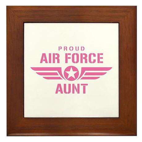 Proud Air Force Aunt W [pink] Framed Tile
