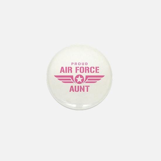 Proud Air Force Aunt W [pink] Mini Button