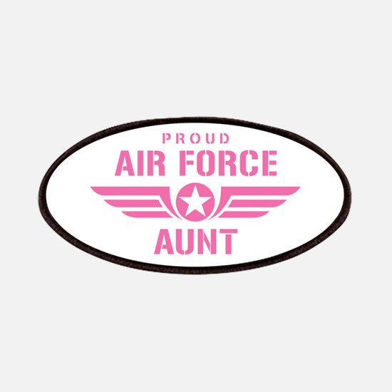 Proud Air Force Aunt W [pink] Patches