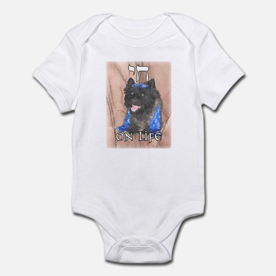 """Chai on Life"" Cairn Terrier Infant Bodysuit"