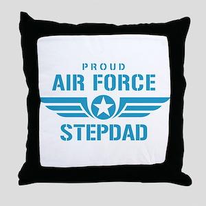 Proud Air Force Stepdad W Throw Pillow