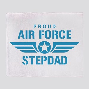 Proud Air Force Stepdad W Throw Blanket