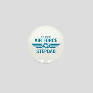 Proud Air Force Stepdad W Mini Button