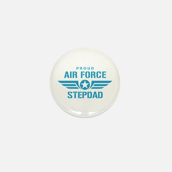 Proud Air Force Stepdad W Mini Button