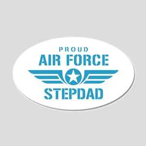 Proud Air Force Stepdad W 20x12 Oval Wall Decal