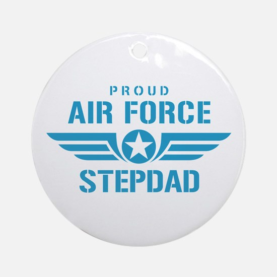 Proud Air Force Stepdad W Ornament (Round)