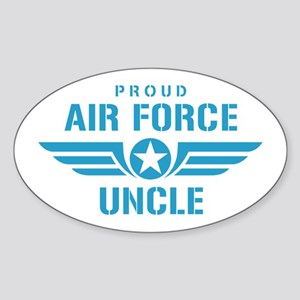 Proud Air Force Uncle W Sticker (Oval)