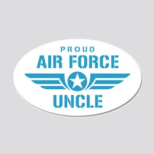 Proud Air Force Uncle W 20x12 Oval Wall Decal
