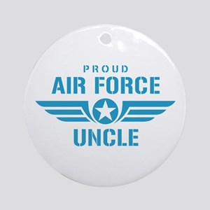 Proud Air Force Uncle W Ornament (Round)