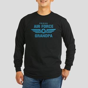 Proud Air Force Grandpa W Long Sleeve Dark T-Shirt