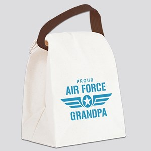Proud Air Force Grandpa W Canvas Lunch Bag