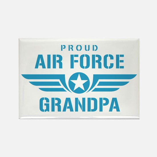 Proud Air Force Grandpa W Rectangle Magnet