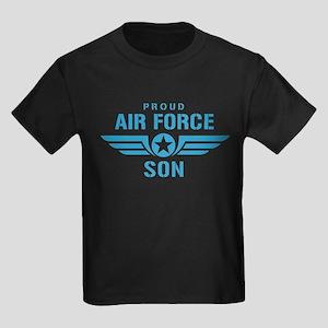 Proud Air Force Son W Kids Dark T-Shirt