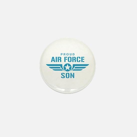 Proud Air Force Son W Mini Button
