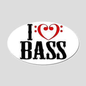 I Love Bass Wall Decal