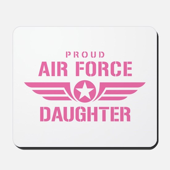 Proud Air Force Daughter W [pink] Mousepad