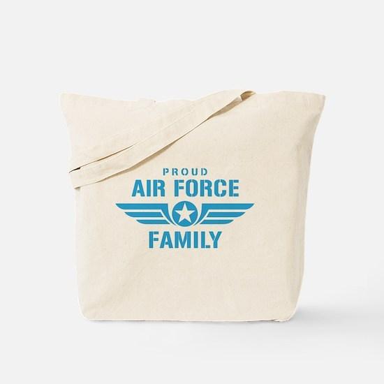 Proud Air Force Family W Tote Bag