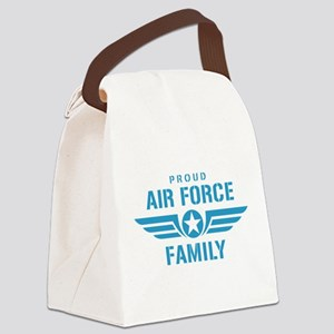 Proud Air Force Family W Canvas Lunch Bag