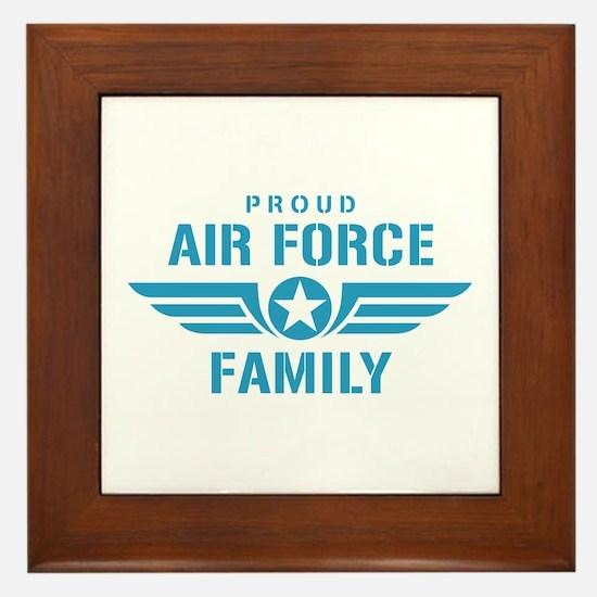 Proud Air Force Family W Framed Tile