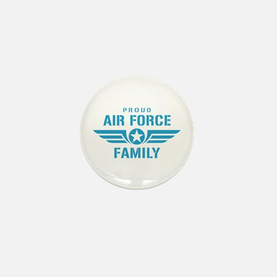 Proud Air Force Family W Mini Button
