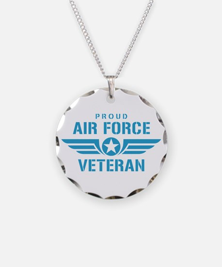 Proud Air Force Veteran W Necklace