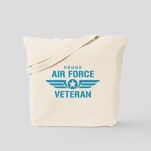 Proud Air Force Veteran W Tote Bag