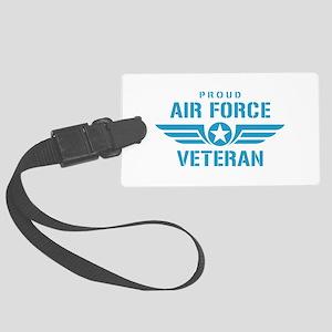 Proud Air Force Veteran W Large Luggage Tag