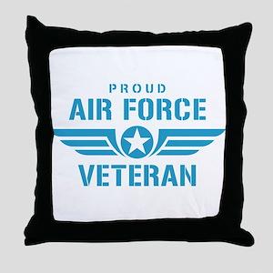 Proud Air Force Veteran W Throw Pillow