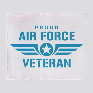 Proud Air Force Veteran W Throw Blanket