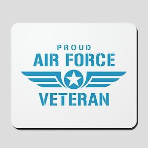 Proud Air Force Veteran W Mousepad