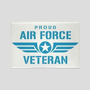 Proud Air Force Veteran W Rectangle Magnet