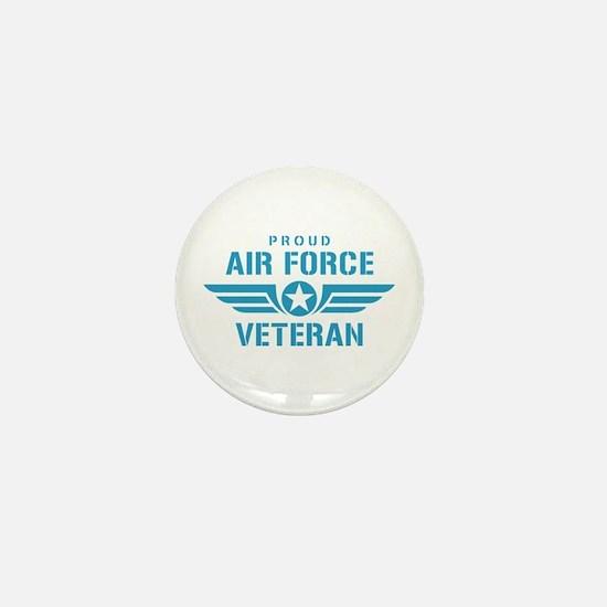 Proud Air Force Veteran W Mini Button