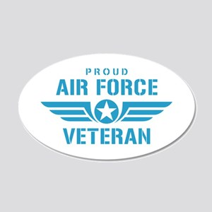 Proud Air Force Veteran W 20x12 Oval Wall Decal