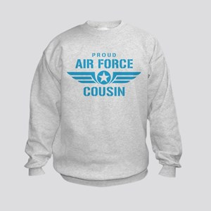 Proud Air Force Cousin W Kids Sweatshirt