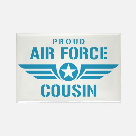 Proud Air Force Cousin W Rectangle Magnet